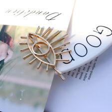 Women Gold Silver Big Eye Face Statement Hair Pin Hair Clip Hair Accessories