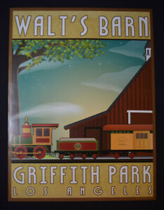 Griffith Park Walts Barn Train Poster Carolwood Pacific Railroad Disneyland