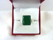 5.63 ct Genuine Green Agate Rhodium White Gold Plated 925 Sterling Silver Ring