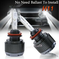 ALL IN ONE 35W HID Xenon Headlight KIT Bulbs Lamp High Beam H11 6000K White 2X