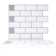 Peel and Stick Tile Backsplash,White Subway Tiles Backsplash for Kithcen,20-Pack