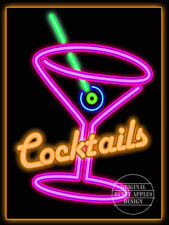 COCKTAIL PINK RETRO CAFE PUB HOTEL,WINE BAR,MANCAVE,HOME DECOR,METAL PLAQUE