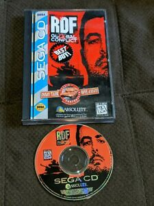 RDF Global Conflict Sega CD SCD Complete in Case Authentic Nice