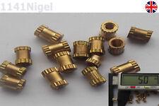 M2 x 5mm(L) 3.2mm(OD) Metric Threaded Brass Knurl Round Insert Nuts