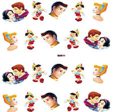 Nail Art Sticker Water Decals Transfer Disney Princes Pinocchio  (BLE496)