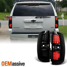 Fit 07-14 Yukon Tahoe Suburban SUV Black Smoked LED Tail Lights Replacement