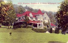Greystone, Residence A. P. Perley, Williamsport, Pa 1911