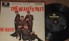 THE BEATLES ~ BEATLES' HITS UK 4-TRACK Y/B PARLOPHONE EP 1963 ~ 1N/2N 1ST PRESS