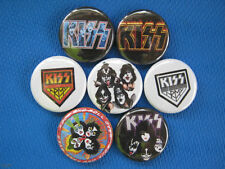 KISS Rock Band Gene ACE Peter Paul 1973 NYC  7 PINS BUTTONS BADGES NEW