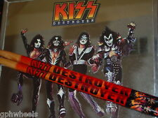 KISS DRUM STICK DRUMSTICK SET DESTROYER ACE, PETER, PAUL, GENE -NICE!