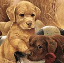 RETRIEVER PUPPIES Dollhouse Picture - FRAMED  Dog Miniature - MADE IN AMERICA