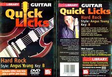 Lick Library, Hard Rock Style, Angus Young, Guitar Instruction, NEW DVD
