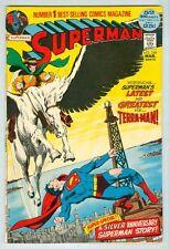 Superman #249 March 1972 VG/FN Neal Adams Origin Terra-Man