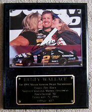 PLAQUE ~ RUSTY WALLACE ~ #2 MILLER ~ AUTOGRAPHED
