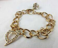 THALIA SODI Gold-Tone Enamel and Crystal Glamour Charm Bracelet Msrp $29.50