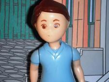 Little Tikes Dollhouse Father doll wearing blue Brown Hair Eyes Vintage RARE HTF