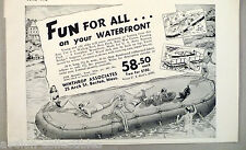 Boat Floating Dock Raft PRINT AD - 1948 ~~ Winthrop Associates, pontoon