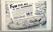 Boat Floating Dock Raft PRINT AD - 1948 ~~ Winthrop Associates, pontoon