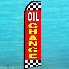 OIL CHANGE FLUTTER FEATHER FLAG Cks Swooper Vertical Advertising Sign Bow Banner