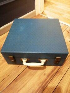 Vintage Brexton Hamper Picnic Set WITH 8 PC ROYAL TUDOR OFFBEAT SET KEYS ALSO