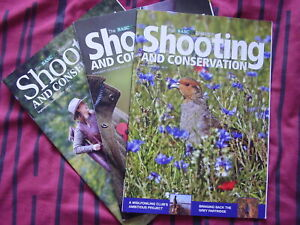 3 x ISSUES of BASC SHOOTING & CONSERVATION MAGAZINE 2018/2019