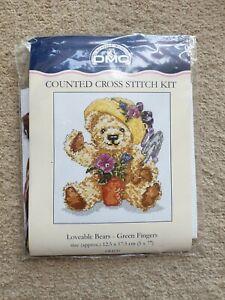 DMC Loveable Bears - Green Fingers - Counted Cross Stitch Kit (K4120)