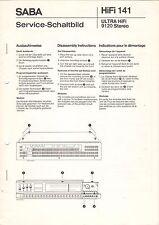 SABA - HiFi 141 ULTRA HiFi 9120 Stereo - Service Schaltbild + Instruction  B3037