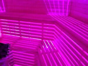 LED-Saunabeleuchtung-Saunalampe, Saunalicht-Farblicht, Sauna, LED. 3 Meter LEDs.