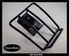 VESPA GTS GTV GT Sprint Portaequipajes Trasero Portador de Equipaje Negro Brillante-Clásico Racks