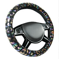 CARPASS Car Steering Wheel Cover Coloful Beatutiful Butterfly Antidust for Cars