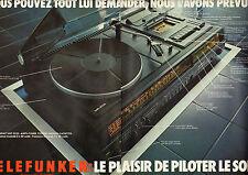 Publicité 1977  (Double page)   TELEFUNKEN compact hifi 5030 ampli tuner  AEG