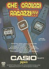X2435 Orologi CASIO quartz - Pubblicità 1980 - Advertising