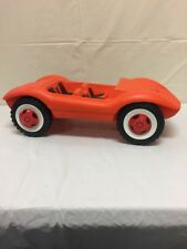 "Vintage Antique Orange Plastic Car Toy Made In West Germany 6 1/4""Hx20""L"