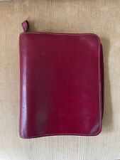 Franklin Quest Covey Classic Red Verona Leather Open Binder Planner Organizer