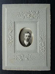 Victorian CDV FRAMED EMBOSSED photograph of Gent by Fred Ash Studio Manchester