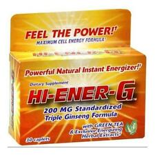 2 Pack Windmill Hi Ener G 200Mg Triple Ginseng Supplement 30 Caplets Each
