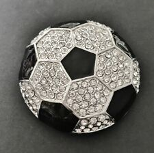 Belt Buckle Buckles Rhinestone Soccer Ball Sports