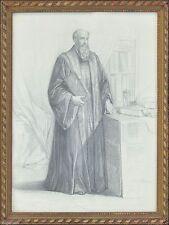 Künstlerische Malerein mit Bleistift-Technik von 1800-1899 als Original der Zeit