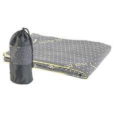 Yoga Tuch: 2in1-Mikrofaser-Yoga-Handtuch & Auflage, saugfähig, rutschfest, grau