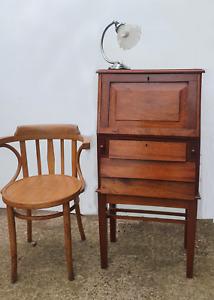 Art Deco Style Solid Walnut Bureau