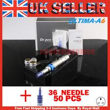 Electric Ultima A6 Dr.Pen Stamp Auto Micro Needle Derma Pen+36Pin Cartridges*52