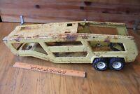 Vintage Tonka Car Carrier Pressed Steel Trailer Car transport XR-101 Metal Toy