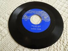 BARBARA FOSTER HE IS NOT MINE/MY HOME IN THE SKY PREVIEW 2764 SONG POEM RECORD