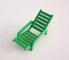 PLAYMOBIL (V161) CAMPING - Chaise Longue Verte Caravane 3249 Camping Car 3258