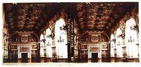 Francia Château Da Fontainebleau Galerie c1910 Foto Placca Lente Stereo Vintage