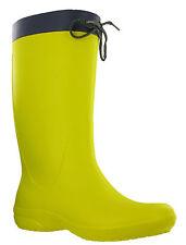 Crocs Freesail Stivale da pioggia Donna vitello Inverno Infilare Leggero Limone 38