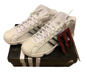 NIB Adidas Pro Model 2010 Women's Basketball Shoes White Black Size 10.5