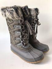 Bearpaw Women's Mckinley Waterproof Winter Boot (Size 7) Gray Insulated