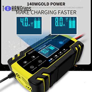 Car ATV 12/24V 6-150Ah Motorcycle Pulse Repair Battery Charger Automatic ATF