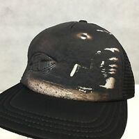 VANS OFF THE WALL Classic Patch Trucker Black on Black Skater Hat Cap SnapBack